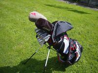 adams tight lies golf clubs mens r/h full set and adams bag