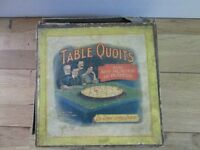 Vintage Table Top Game of Quoits by Royal Letters Patent, British Manufacture. 8 counters 12 rings.
