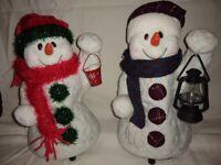 Christmas 2 large musical bouncing snowmen