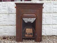 Cast iron fireplace / mantle piece / cast insert / vintage cast iron / garden / salvage / old fire