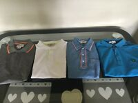 Men's designer polo shirts x4