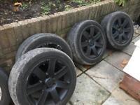 Alloy wheels 17 inch, fitted on vivaro van