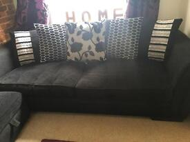 Black 4 seater dfs sofa- very good condition