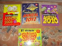 JOB LOT 3 HORRIBLE SCIENCE ANNUALS PLUS JIGSAW BOOK - £1 FOR THE LOT