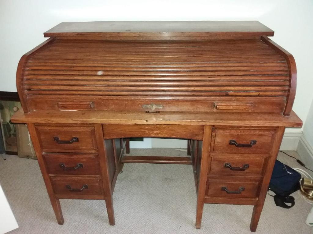 Antique Roll Top Desk In Royal Wootton Bassett Wiltshire Gumtree