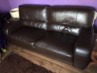 3 seater leather sofa (plus 2 seater free)