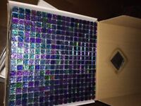 Chromatic Azurite Mosaic Tiles - Glass Mosaic Tiles - Purple - Blue