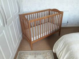 90c489d218d Ikea Wooden Cot With Mattress - Excellent Condition