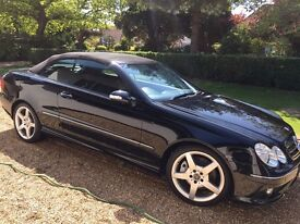 MERCEDES BENZ 280 CLK SPORT CONVERTIBLE 2006 AMG STYLING FANTASTIC CONDITION BLACK LEATHER INTERIOR