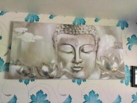 Large Buddha canvas painting