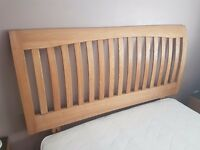 Double 4 drawer divan bed and wooden headboard