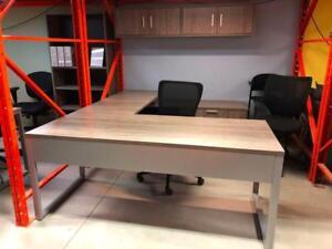 U-Shape Desk with Drop Down Credenza