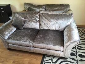 Very good condition velvet sofa nearly new