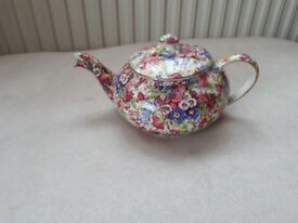 ROYAL WINTON. GRIMWADES. CHINTZ. 0.5 PINT SMALL TEA POT. GOOD COND.