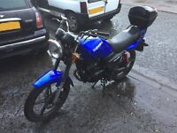 Sinnis Max 11 125 motorbike, 12 months MOT low mileage. Might swap for car.