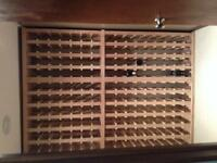 Custom Oak Wine Racks