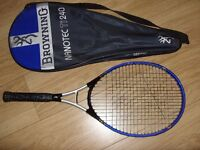 Browning Nanotec Ti240 Nanocarbon Titanium Tennis Racket Racquet + Cover Used Once Great Condition.