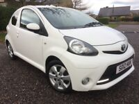 TOYOTA AYGO 1.0 VVTi FIRE 2012 FSH 5 STAMPS FREE ROAD TAX LOW INSURANCE 64K LONG MOT PX WELCOME
