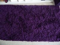 Deep purple rug - clean, good condition
