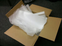 Strong Cardboard Cartons and Foam Polythene Packing Sheets