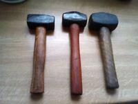 lump hammers x 3 4lb/2 1/2