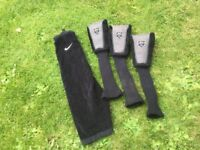 Nike Golf Towel plus matching Nike 1, 3 & 5 Wood head covers.