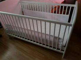Cot bed and mattress