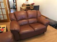 2 x 2 seater leather sofas for sale