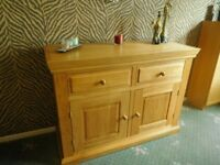 Oak Dining Table And Matching Sideboard