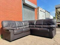 Leather corner sofa delivery 🚚 sofa suite couch furniture
