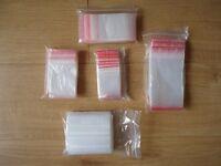 15400 various size resealable grip seal bags
