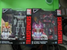 Titans Return Transformers - Alpha Trion & Astrotrain - new in box
