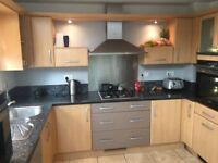 Used kitchen for sale, with some appliances and granite worktops
