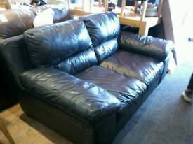 Black immaculate leather 2 seater