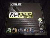 Used. ASUS M5A 78L-M motherboard