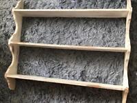 White wooden shabby chic 3 tier shelf (Large)