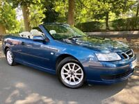 SAAB 9-3 CONVERTIBLE AUTO 1.9 TiD 150 – LOW MILES - 1 OWNER - SERVICE HISTORY - 1/2 LEATHER