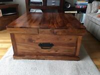 Maharani coffee table / storage chest. John Lewis range