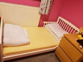 While toddle bed and matress for sale