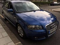 2007 AUDI A3 2.0 TDI SPORTSBACK SPORT 170BHP, FULL SERVICE HISTORY, FULL HEATED LEATHER