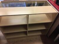 Shop counters with storage in Maple finish £80 each or both for £130 buyer collects