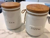 Coffee Tea Jars Canisters Kitchen Storage - Brand New