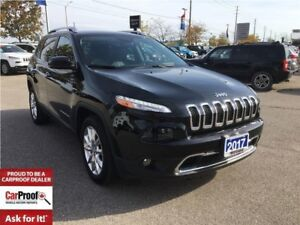 2017 Jeep Cherokee LIMITED**REMOTE START**LEATHER HEATED SEATS**