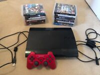 SUPER SLIM 12GB PLAYSTATION 3 PS3 CONSOLE, 1 CONTROLLER & 15 GAMES PREOWNED