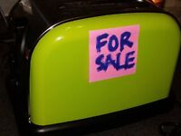 Lime green toaster to brighten up your mornings. £8 ono. HOUSE CLEARANCE