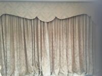 Curtains with pelmet two sets