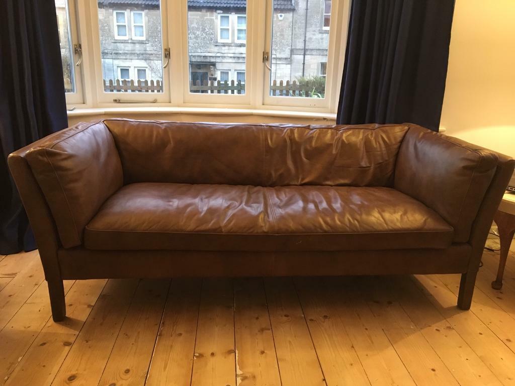 John Lewis Halo Groucho Leather Sofa Rrp 1699 In Bradford On
