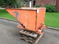 Forklift Tipping Skip with side loader
