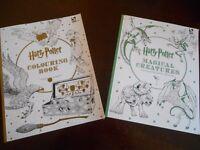 Bespoke Harry Potter Hogwarts Express Platform Sign and two unused colouring books