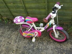 Girls 14inch pixie bike